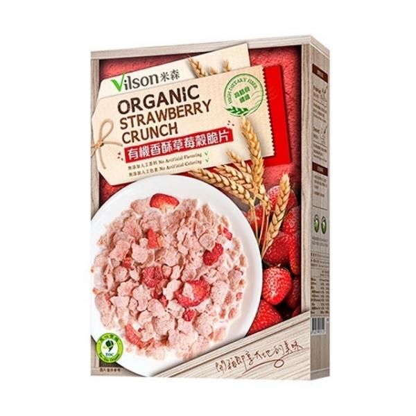【米森】有機香酥草莓穀脆片(150g/盒)