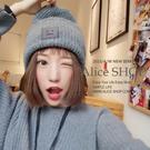 【Alice Shop 愛麗絲 】 尖尖方塊人徽章 毛帽 棒球帽 嘻哈帽 街舞帽 平板帽【cp128598】預購