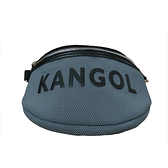 KANGOL 灰色網狀側腰包-NO.6055300710