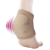 日本【alphax】後足跟吸收衝擊保護套襪-黑色