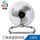 ▍鋁製扇葉 創造超強風速 ▍金展輝14吋桌壁兩用扇/桌扇/壁掛扇/涼風扇/電扇(A-1401)