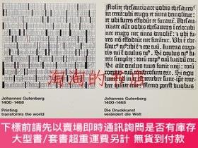 二手書博民逛書店Johannes罕見Gutenberg 1400-1468 Printing transforms the wor