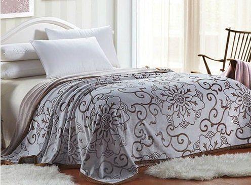 D108 秋冬法蘭絨雕花蓋毯