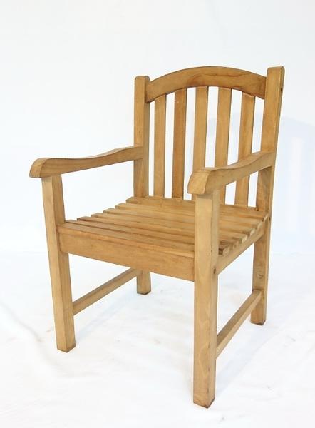 【南洋風休閒傢俱】戶外休閒椅系列-柚木香堤扶手椅  戶外實木椅  戶外餐椅 原木沙發(#052T)