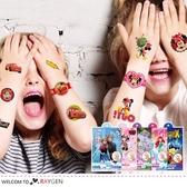 迪士尼卡通系列轉印貼紙 兒童紋身貼紙 4張/組