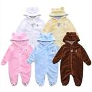 北極熊造型長袖包腳兔裝 珊瑚絨連身衣 S...