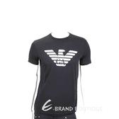 Emporio Armani GA 老鷹標誌黑色棉質T恤(男款) 1920698-01