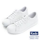 KEDS ACE皮革綁帶休閒鞋 白 171W130044 女鞋