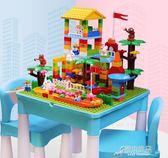 學習積木桌2男女孩3-6歲兒童5寶寶大顆粒拼裝玩具 原本良品