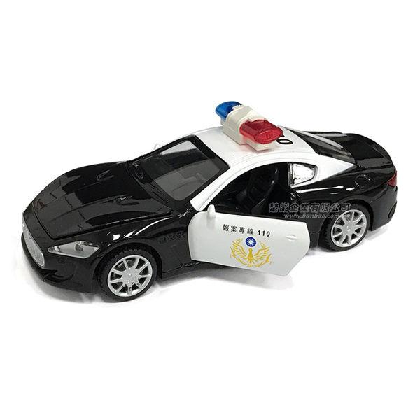 HY ALLOY華一 TJ6801 台灣警車 聲光迴力車 模型車 巡邏車 瑪莎拉蒂車型(1:32)【楚崴玩具】