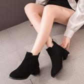 馬丁靴女2020春秋新款英倫風粗跟單靴網紅百搭瘦瘦鞋切爾西短靴子 萬聖節