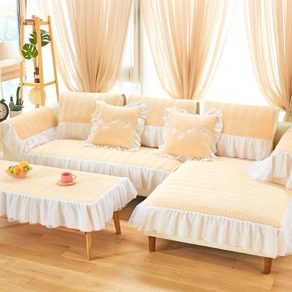 90*180cm冬季沙發墊四季毛絨套全包萬能套歐式布藝罩巾蓋通用防滑簡約現代