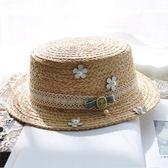 【618好康鉅惠】草帽韓版禮帽海邊沙灘帽遮陽短發英倫
