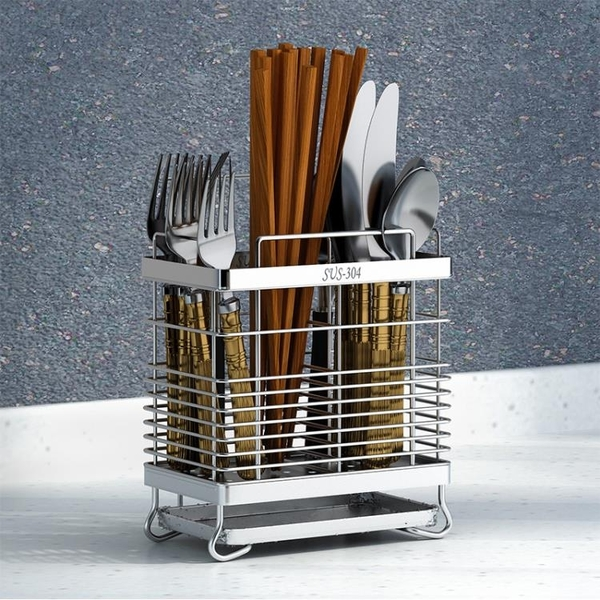 碗盤架 304不銹鋼筷子筒筷架掛式餐具筒瀝水架筷籠筷子簍廚房收納置物架全館促銷