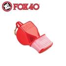 【Fox 40 軟膠口哨子Fox 40 classic《紅色》】9603-0108/高音哨/求生哨/訓練哨
