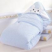 嬰兒抱被新生兒包被秋冬初生寶寶純棉抱毯春秋加厚款可脫膽用品