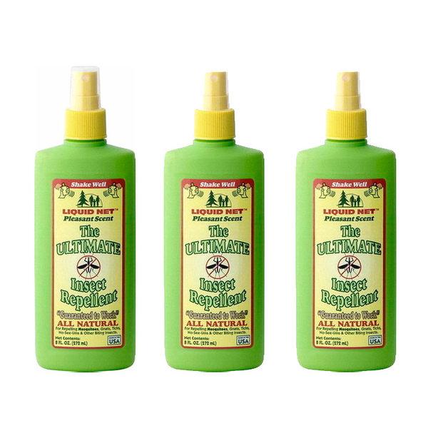 【家庭組合價 3罐入】Liquid Net液網 防蚊液 / 城市綠洲 ( 防小黑蚊、驅除蚊蟲 、防蚊噴霧、美國)