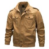 軍裝外套-立領純棉肩章休閒純色男夾克3色73wn3【巴黎精品】