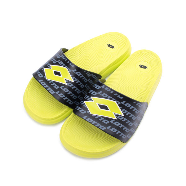 LOTTO 運動文字套式拖鞋 螢光綠 LT9AMS0825 男鞋 鞋全家福