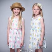童裝 洋裝 大象小屋印花後拉鍊無袖洋裝(共2色) Azio Kids 美國派 童裝