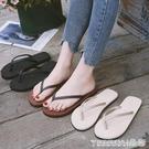 夾腳拖鞋 人字拖女士夏季情侶平底學生簡約時尚外穿海邊坡跟防滑沙灘涼拖鞋 晶彩 99免運