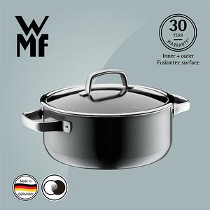 【WMF】Fusiontec 低身湯鍋 24cm 4.4L(鉑灰色)