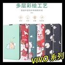 【萌萌噠】VIVO X60 X60 pro 男女高配新款 蠶絲紋熱銷系列彩繪側翻皮套 可支架插卡 磁性吸附 保護套