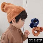 [現貨] 兒童毛帽 圍脖 孩童帽 針織毛帽 親子裝 童裝 圍巾 C5012