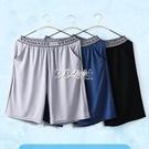 睡褲 新品男士睡褲夏季薄款冰絲家居短褲寬鬆大碼居家褲超薄大褲衩睡覺