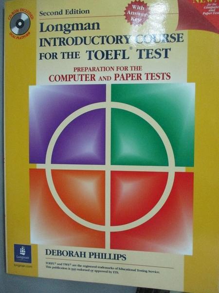 【書寶二手書T3/語言學習_EIN】Longman Introductory Course for the Toefl