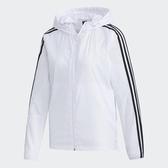 ADIDAS MH FEM WB 女裝 外套 連帽 休閒 防風 透氣 拉鍊口袋 白【運動世界】GF0143