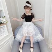 女童裝 童裝女童夏裝 新款中大童時髦套裝兒童網紅洋氣春裝兩件套裝裙【快速出貨八折搶購】