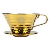 金時代書香咖啡  TIAMO K02不銹鋼器組 (鈦金) 1-4人份 附滴水盤 量匙  HG5050GD