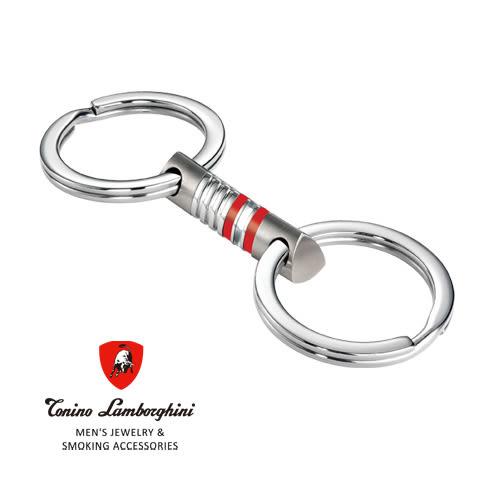 義大利 藍寶堅尼精品 -  CORSA Collection 鑰匙圈(紅色) ★ Tonino Lamborghini 原廠進口 時尚必備行頭 ★