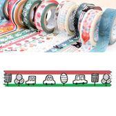 Shinzi Katoh 加藤真治 紙膠帶15mm(汽車交通)★funbox生活用品★_ZI02633