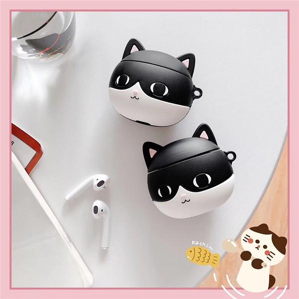 ?即將現貨 台灣發貨? 獨家自制款 Airpods2 藍芽耳機保護套 蘋果無線耳機保護套 可愛賓士貓