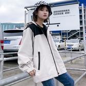 促銷款飛行外套 迷你外套女春秋正韓bf原宿嘻哈少女港風帥氣寬鬆棒球外套夾克潮
