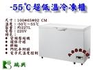 台製瑞興超低溫上掀冰櫃/3.3尺/227L/冷凍櫃/醫療冰櫃/白色冰櫃/低溫冰櫃/-55℃/鮪魚冰櫃/大金餐飲