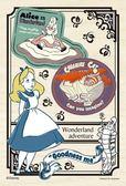 【拼圖總動員 PUZZLE STORY】愛麗絲-混搭風 日本進口拼圖/Yanoman/迪士尼/Disney/99P/迷你/木質