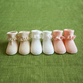 薄款0-3-6個月新生兒女寶寶蕾絲花邊公主襪~