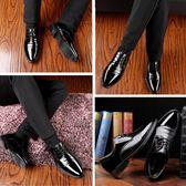 男士皮鞋春季新款商務正裝休閒潮鞋韓版尖頭英倫內增高男鞋子 降價兩天