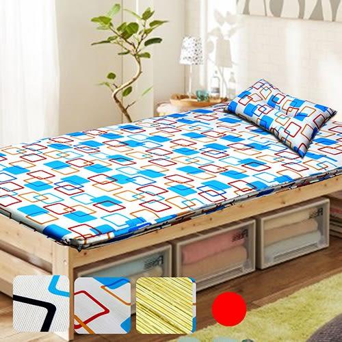 學生床墊/單人床墊/冬夏透氣單人床墊 3尺送記憶枕1顆 -紅 / Gloria