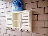 現代創意浴室壁櫃小吊櫃壁掛櫃隔板置物架陽臺廚房【米色小號(精品)】