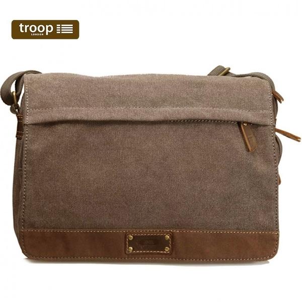 【TROOP】英倫學院OXFORD單肩包/TRP0352BN(棕色)