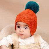 嬰兒毛帽秋冬款男童女童手工編織針織帽護耳冬帽毛線帽嬰兒帽子冬 ys9997『伊人雅舍』