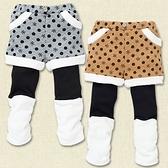 【HE0007】日本雪花假兩件式寶寶保暖長褲 靴褲 80/90/95/100/110/120/130碼(配雪靴好看)