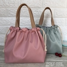 新款純色防水飯盒包手提包可愛抽繩便當袋午餐包帶飯包飯盒手提袋 夏季狂歡