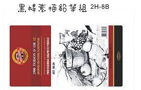 KOH-I-NOR 素描鉛筆2H-8B(黑桿)*1912