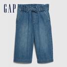 Gap 女幼童 時尚水洗鬆緊牛仔短褲 577205-深色水洗做舊