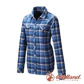 【wildland 荒野】女 彈性 T400格紋保暖襯衫『丁寧藍』0A82201 戶外 休閒 運動 吸濕 排汗 快乾 舒適